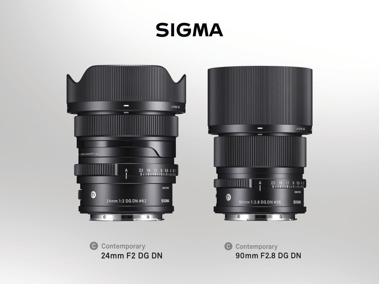 SIGMA 90mm F2.8 DG DN Contemporary i SIGMA 24mm F2 DG DN Contemporary